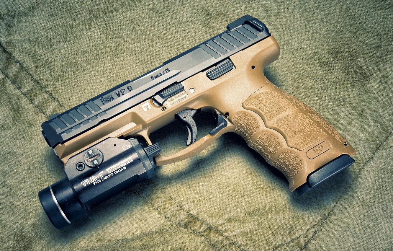 Фото обои Heckler & Koch, самозарядный пистолет, 9 мм, VP9