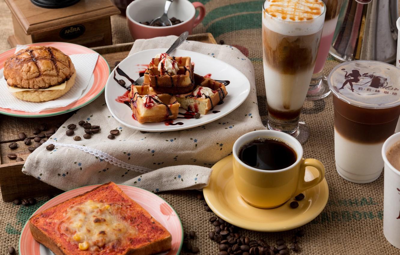 Картинки с кофе и бутербродами
