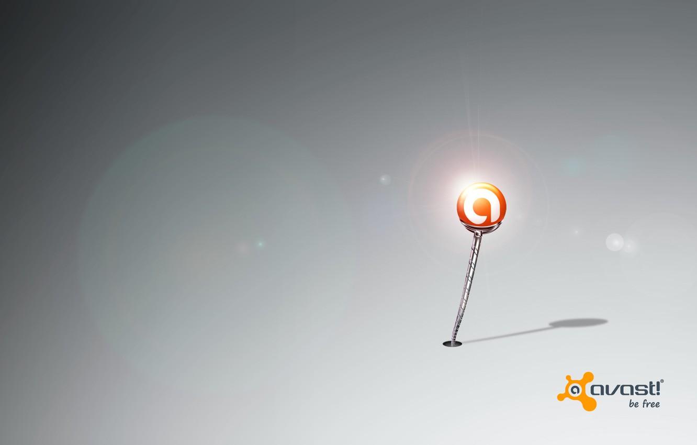 Фото обои свет, шарик, мерцание, программа, антивирус, аваст, avast!