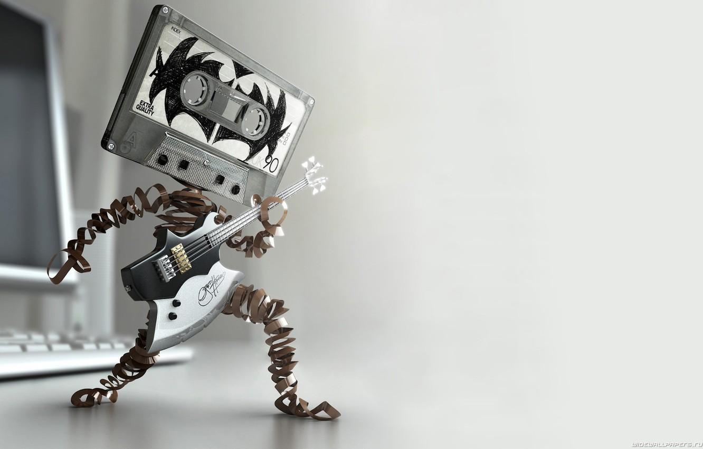 Фото обои музыка, драйв, касета, гитара