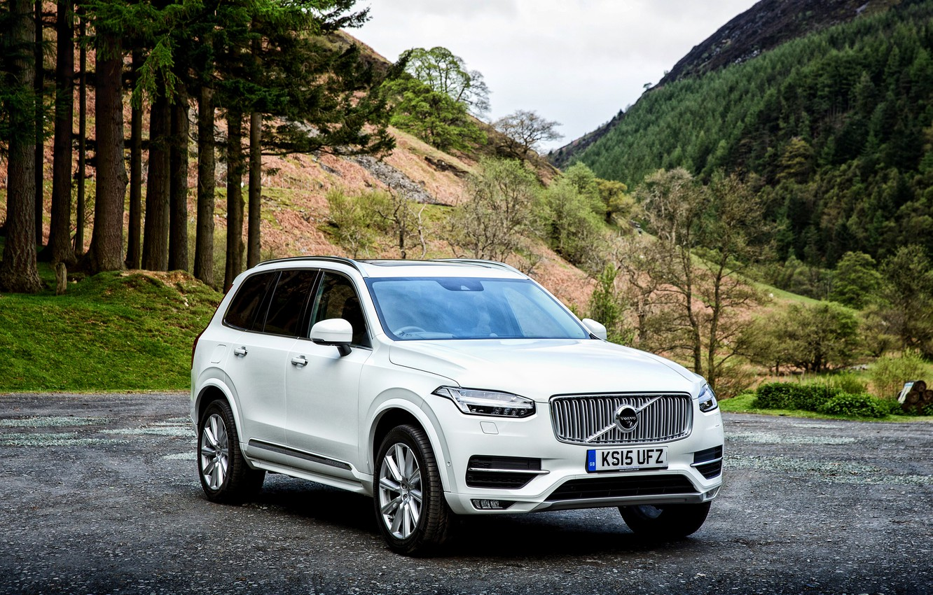 Фото обои Volvo, XC90, вольво, UK-spec, 2015, Inscription