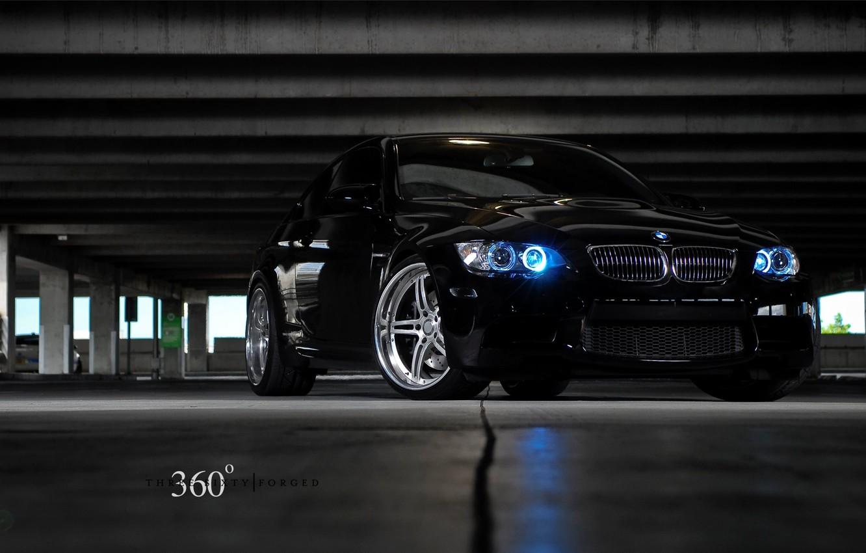Фото обои BMW, парковка, forged, 360°