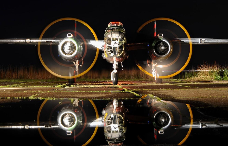 Обои North american, b-25, двухмоторный, американский, средний. Авиация foto 11