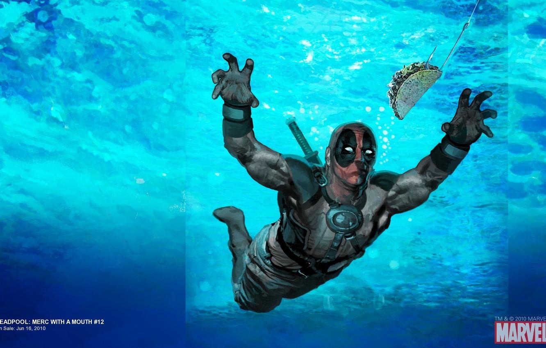 Фото обои Art, Deadpool, Marvel