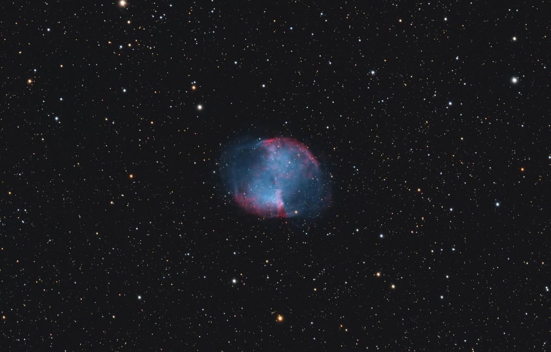Фото обои космос, пространство, Туманность, созвездие, Гантель, мироздание, (M27)