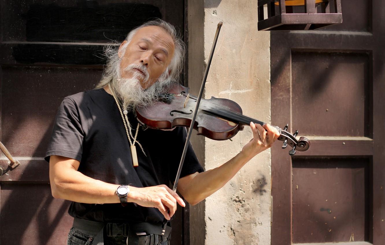 Фото обои музыка, скрипка, человек