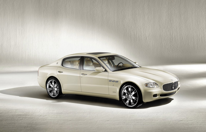 Фото обои car, машина, авто, белый, Maserati, Quattroporte