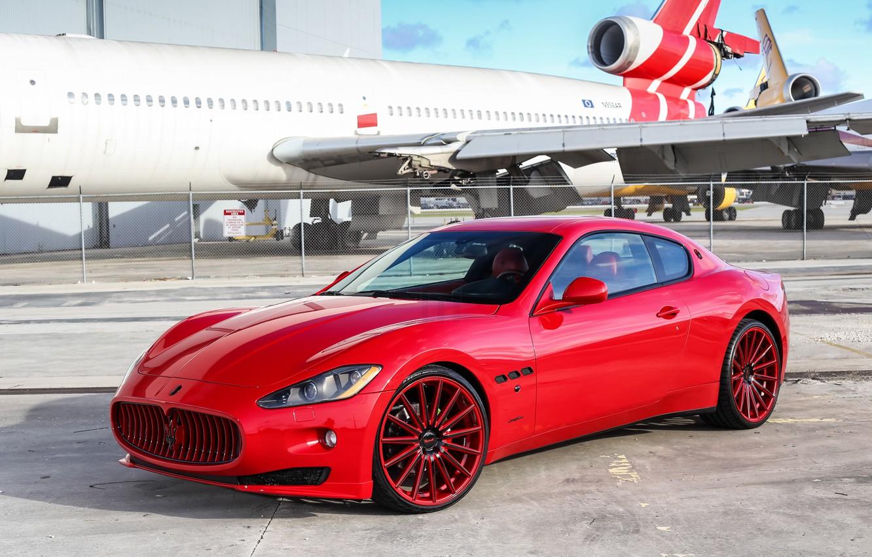 Фото обои Maserati, Granturismo, Vossen, VFS2, Custom Painted
