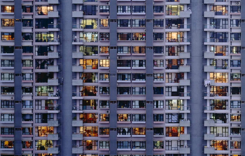 Обои building, windows, apartment. Windows foto 6