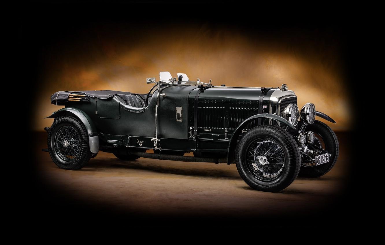 Фото обои Bentley, классика, бентли, Tourer, 1929, Speed 6, Vanden Plas