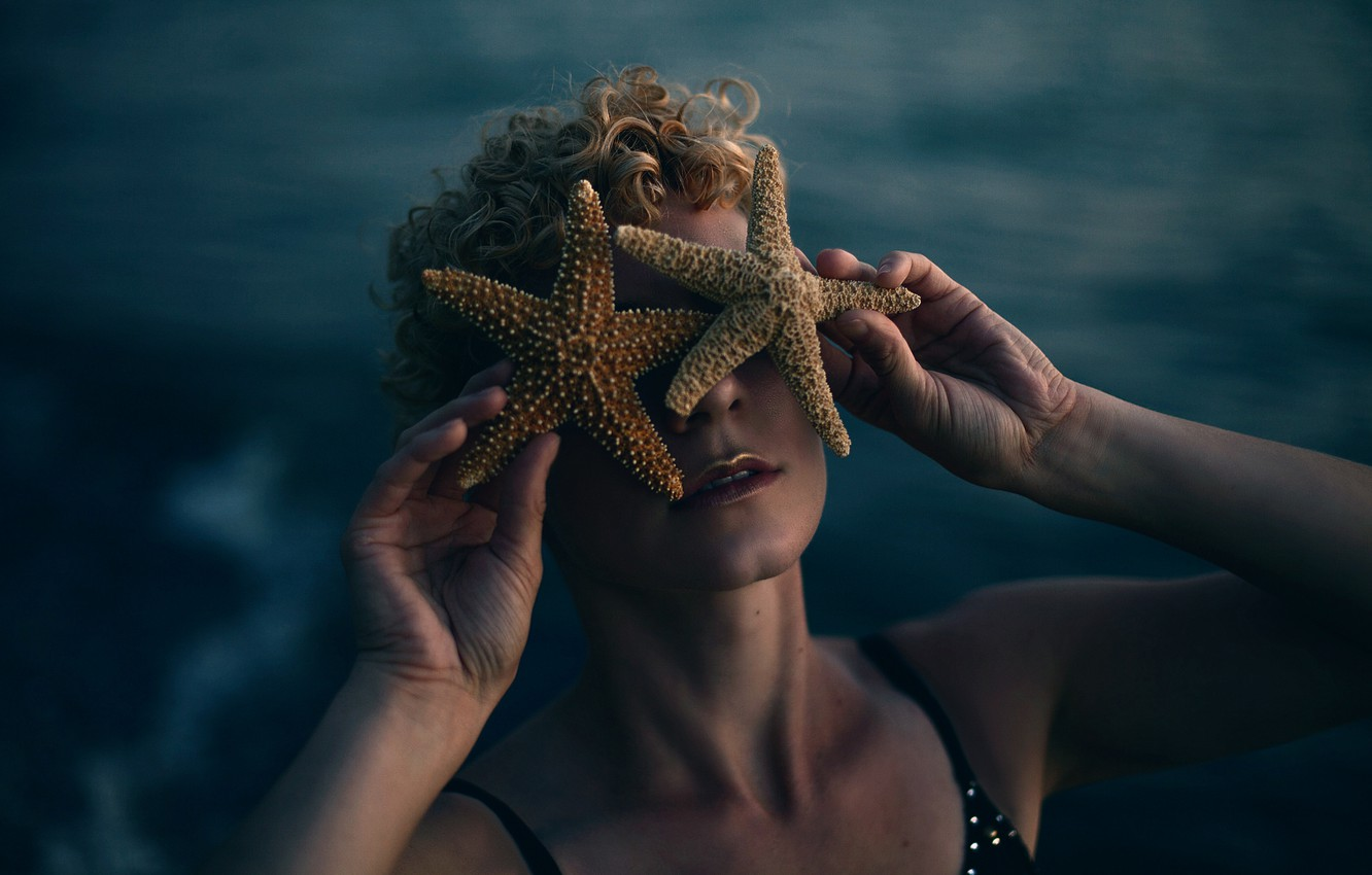 Фото обои девушка, звёзды, Aleah Michele, With stars in her eyes, Rebecca Schillo