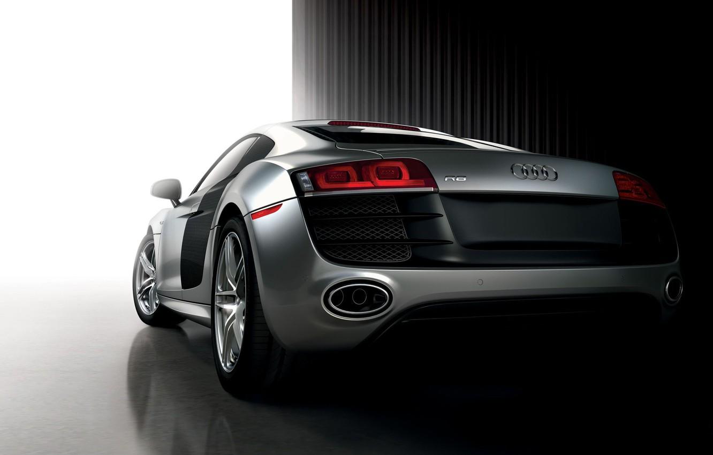 Фото обои спорткар, Audi R8, серебистый