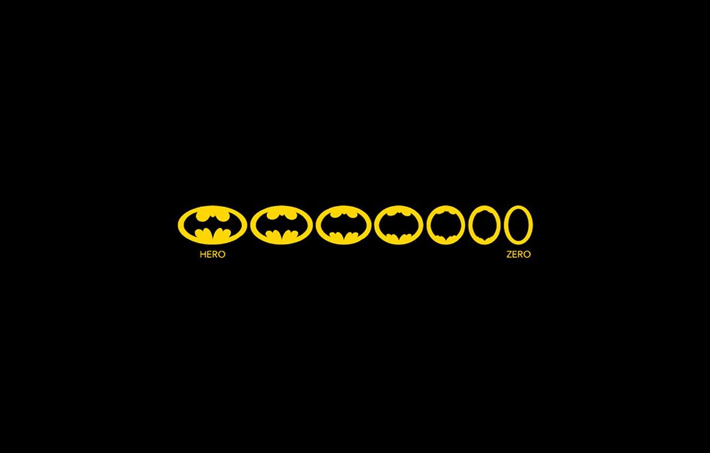 Фото обои batman, минимализм, ноль, minimalism, 1920x1080, Горой