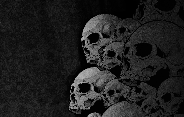Фото обои skulls, bones, drawing