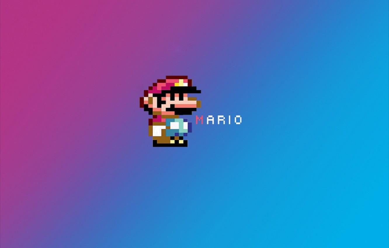 Обои пиксельный герой, марио, пикселизация. Минимализм foto 6