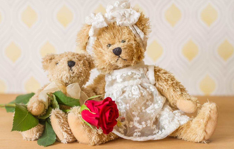 Мишки картинки с розами