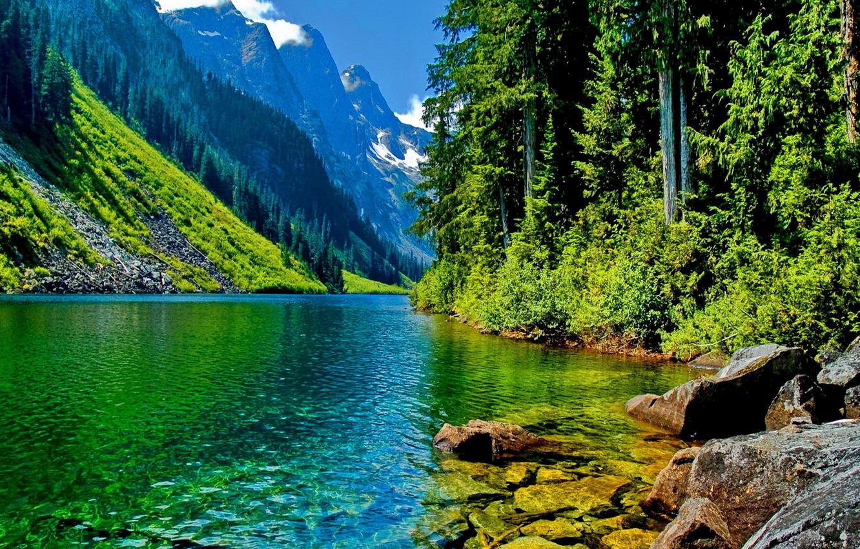 Обои красиво, Горная река. Природа foto 10