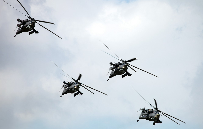 Фото обои вертолет, ввс россии, ми-28н, Ночной охотник