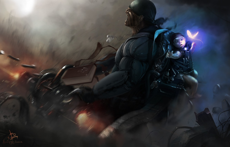 Обои амуниция, солдат, киборг, Фантастика, автомат. Фантастика foto 17
