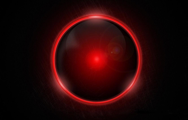 Фото обои красный, черный, шар, круг