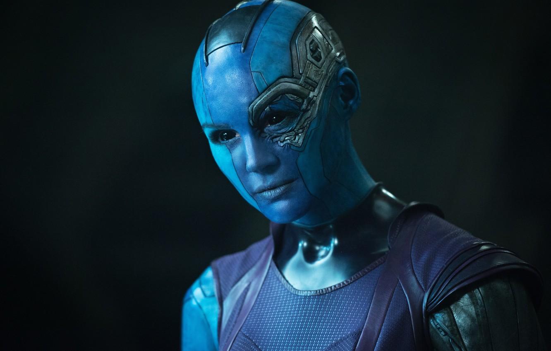 Фото обои Nebula, Карен Гиллан, Karen Gillan, Стражи Галактики, Guardians of the Galaxy