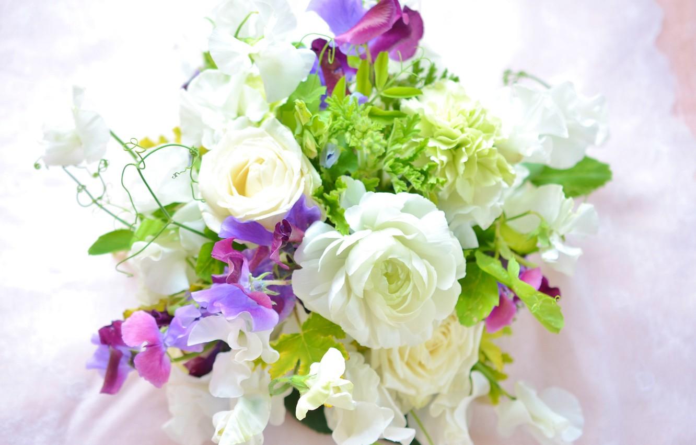 Фото обои роза, букет, лепестки