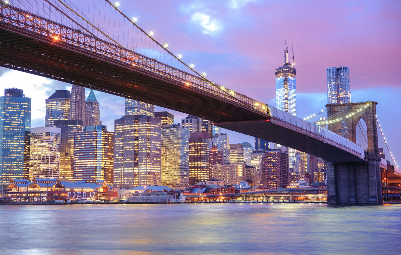 Обои river, сша, new york, manhattan, Nyc, new york city. Города foto 17