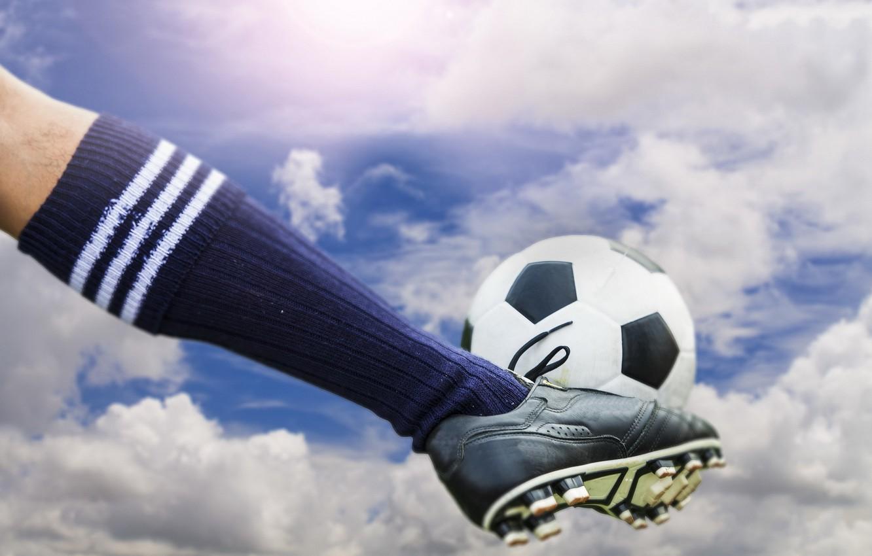 Фото обои soccer, ball, Sky kick
