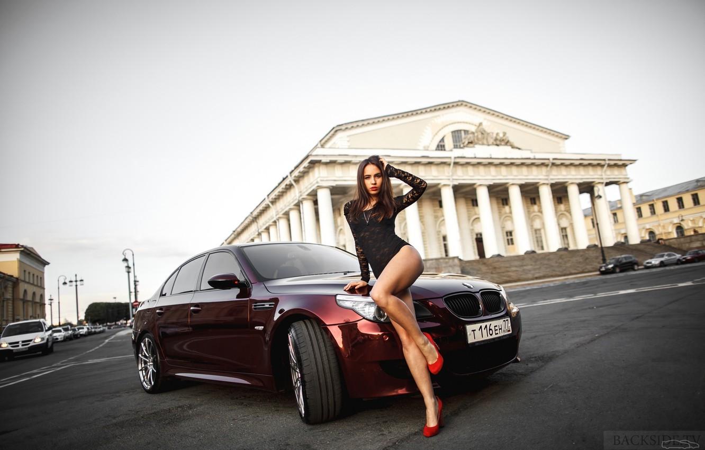 Фото обои BMW, Тень, E60, Smotra