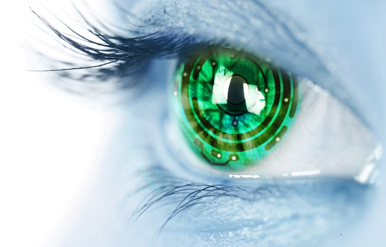 Фото обои взгляд, глаз, технологии, hi-tech, technology