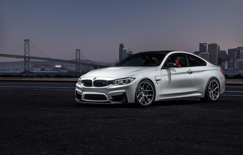 Фото обои BMW, City, Car, Sky, Sunset, White, View, Collection, Aristo, F82