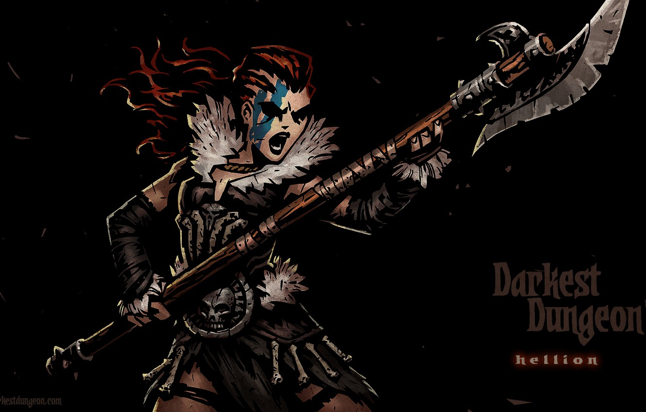 Фото обои RPG, Hellion, Darkest Dungeon, Red Hook Studios