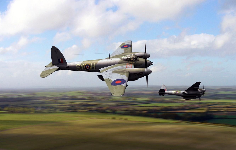 Обои De havilland mosquito, британский многоцелевой бомбардировщик. Авиация foto 8