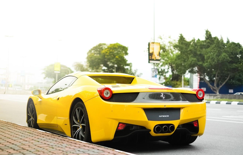 Обои Феррари, Ferrari 458 italia, улица. Автомобили foto 10