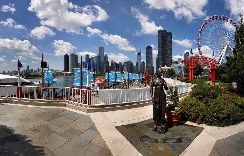 Фото обои city, город, Чикаго, USA, Chicago, Illinois, Navy Pier