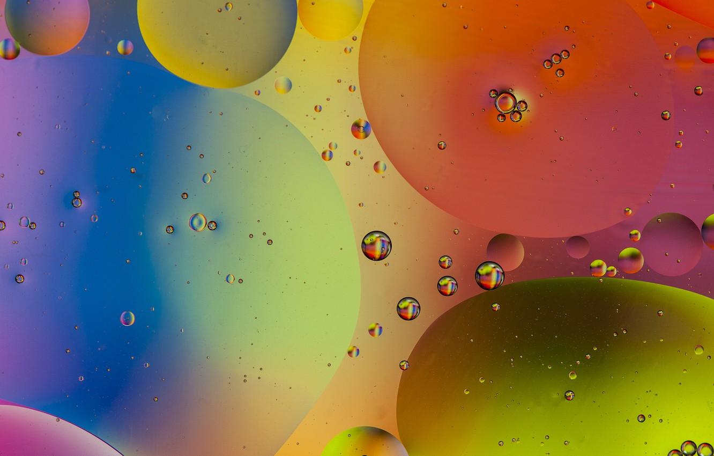 Обои пузырьки, воздух, ураски, Вода, Жидкость, масло, Цвет. Абстракции foto 8