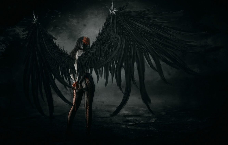 Обои Фантастика, падший ангел, крылья. Фантастика foto 7
