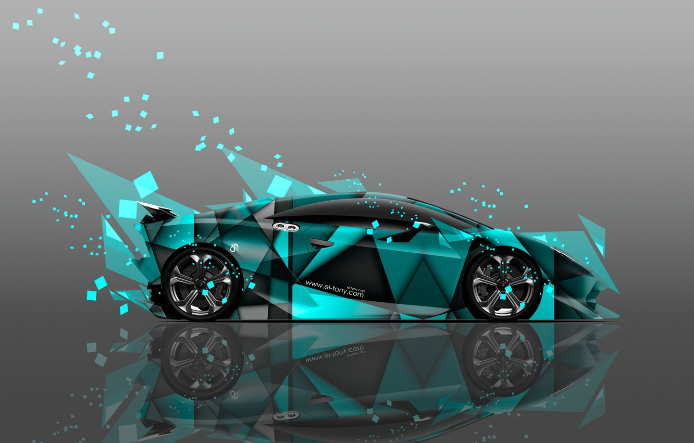 Фото обои Цвет, Lamborghini, Обои, Осколки, Car, Art, Абстракт, Photoshop, Фотошоп, Abstract, Design, Style, Wallpapers, Side, Ламборгини, …
