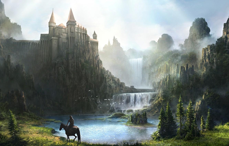 Обои замок, скалы. Разное foto 9