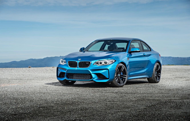 Фото обои бмв, купе, BMW, синяя, Coupe, F87