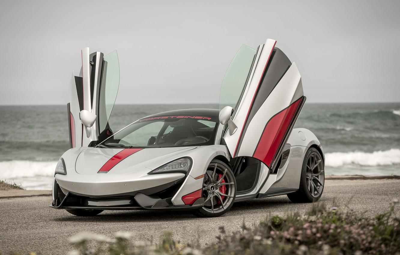 Фото обои McLaren, Тюнинг, Vorsteiner, Серебристый, 2016, 570-VX