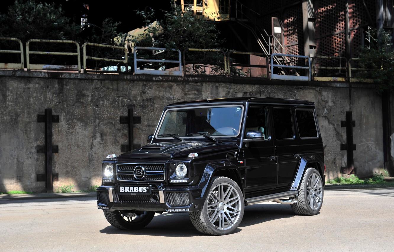 Фото обои черный, Mercedes-Benz, Brabus, мерседес, Black, брабус, гелендваген, G-Class, Gelandewagen, W463, 2015, G 850
