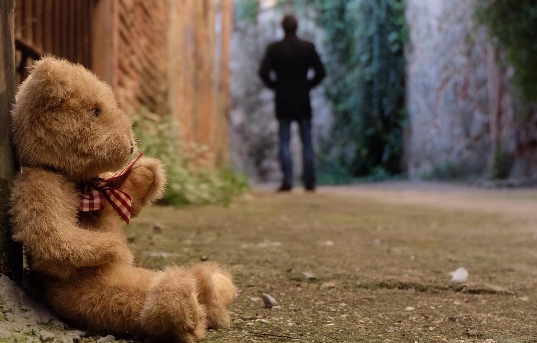 Фото обои грусть, одиночество, игрушка, медведь, мишка, toy, bear, cute, lonely, Teddy
