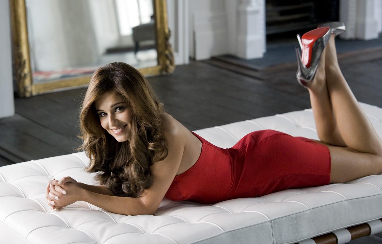 Фото обои поза, платье, певица, Cheryl Cole, шерил коул