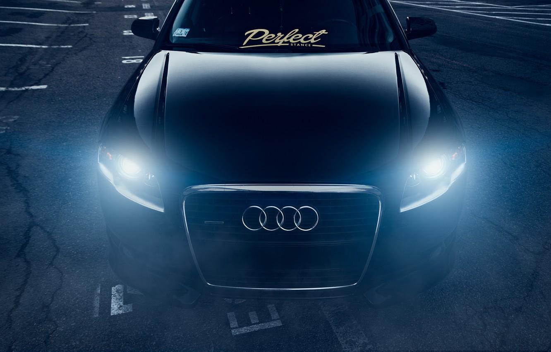 Фото обои Audi, Dark, Front, Black, Stance, Slammed, Vehicle, Ligth