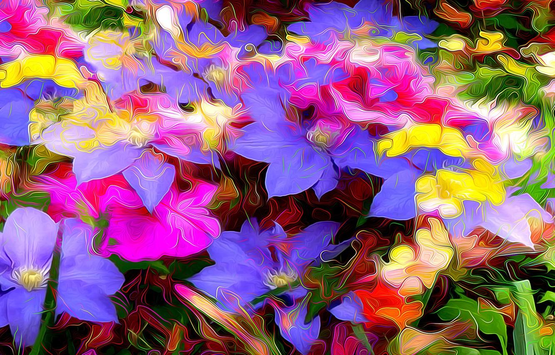 Обои краски, цветы. Абстракции foto 16