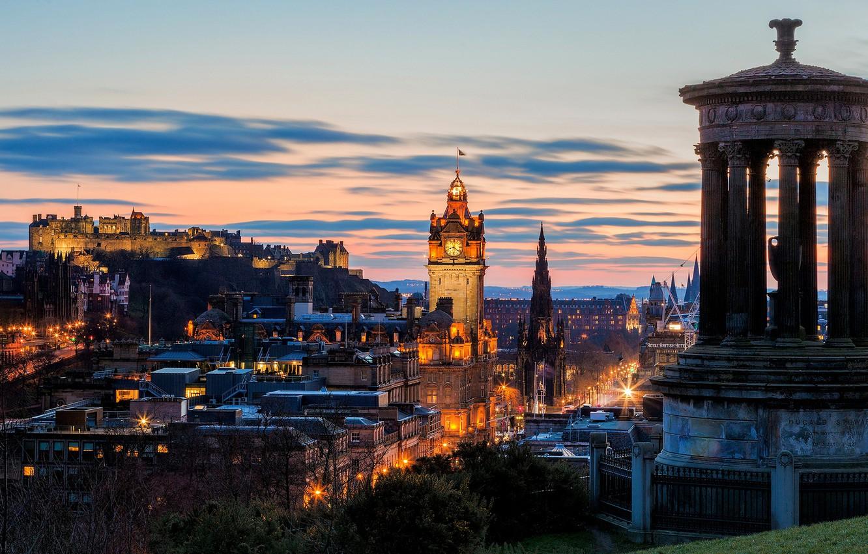 Обои dugald stewart monument, scotland, Шотландия, эдинбург, edinburgh, calton hill. Города foto 7