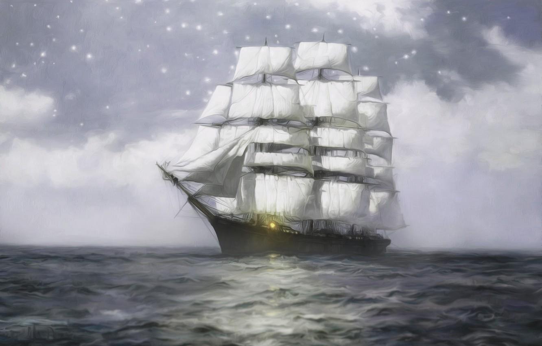 корабль плывет по океану картинки низкий уровень охлаждайки