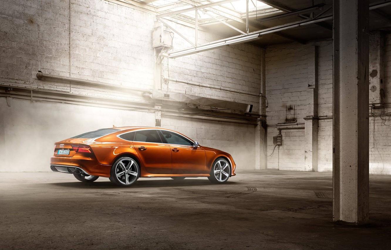 Фото обои Audi, brown, RS7, Ipanema