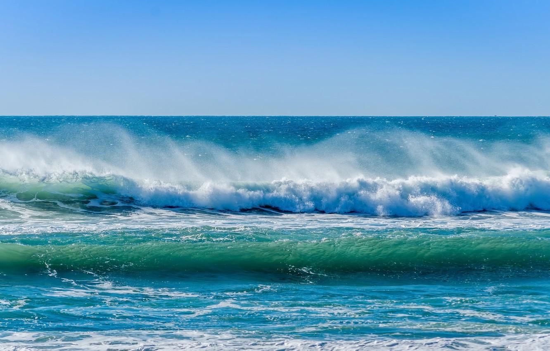 Обои волны, горизонт. Природа foto 11
